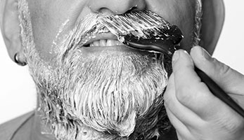 Beard tinting at the Valet London Barber & Shop