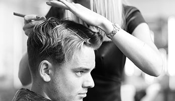 Permanent hair colouring at the Valet London Barber & Shop