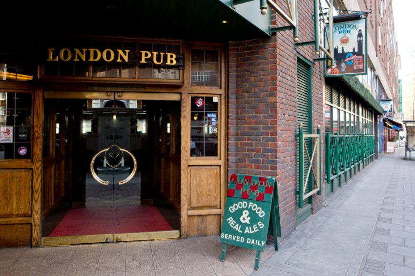 London Pub entrance