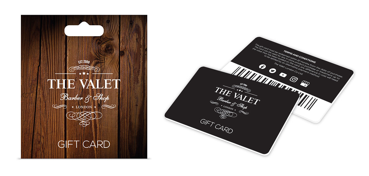 THe Valet Barber & Shop Gift Card & Carrier