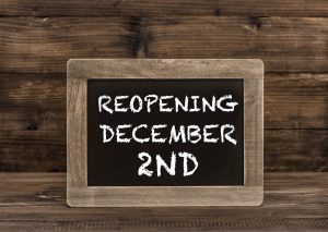 Reopening December 2nd